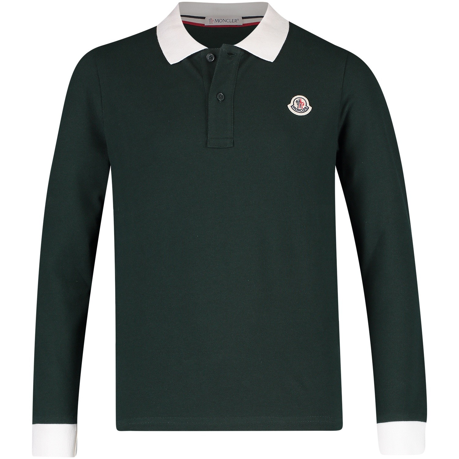 Picture of Moncler 8307750 kids polo shirt dark green