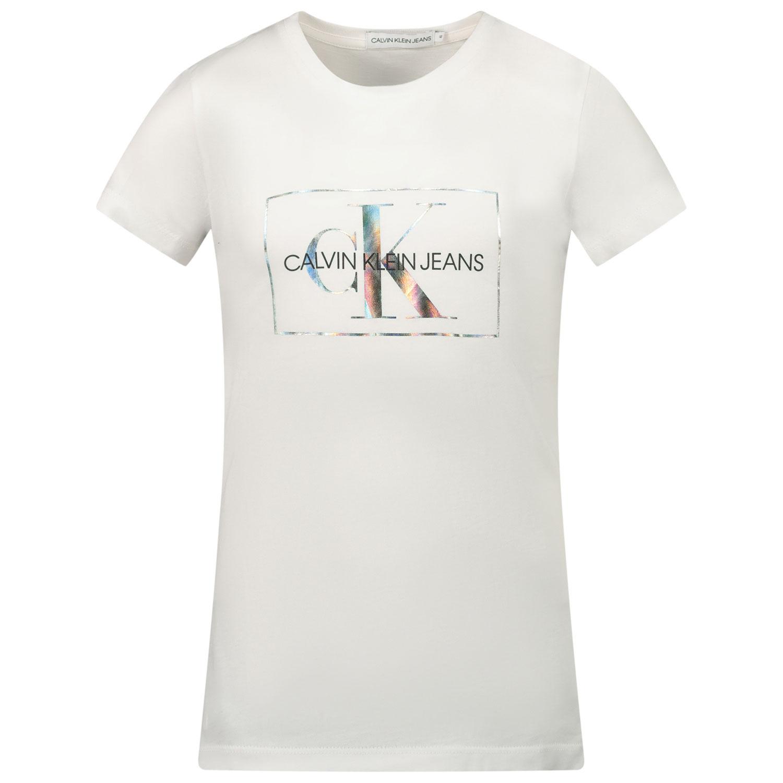 Afbeelding van Calvin Klein IG0IG00561 kinder t-shirt wit