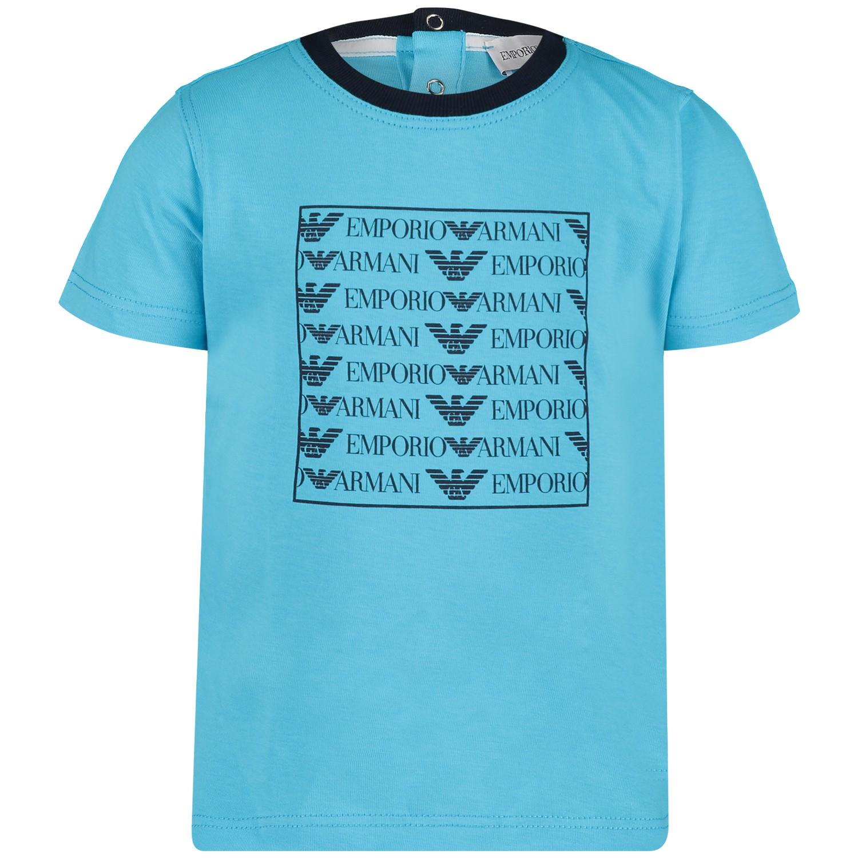 Afbeelding van Armani 3GHD01 B baby t shirt turquoise