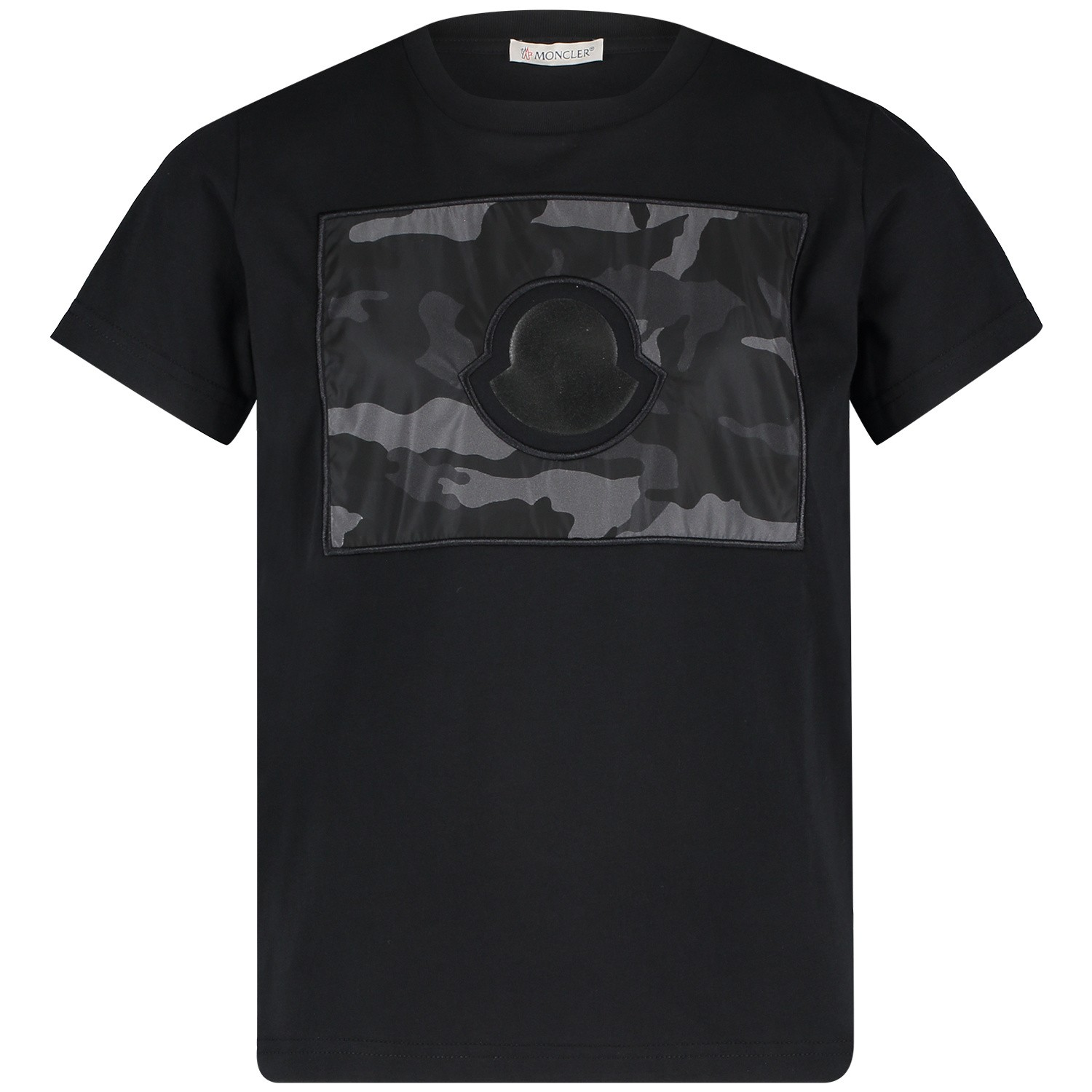 Picture of Moncler 8025050 kids t-shirt black
