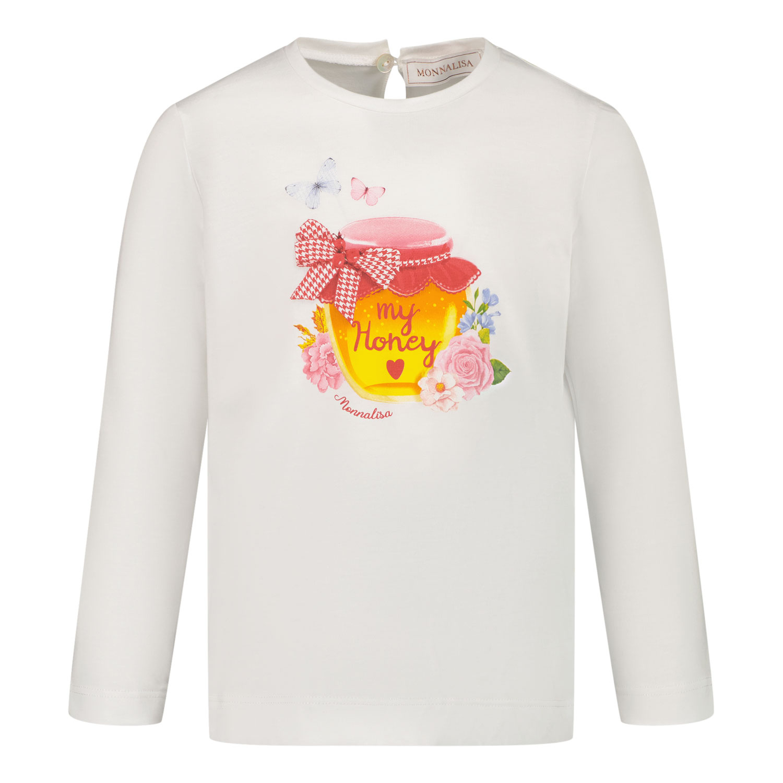 Afbeelding van MonnaLisa 318610SW baby t-shirt off white