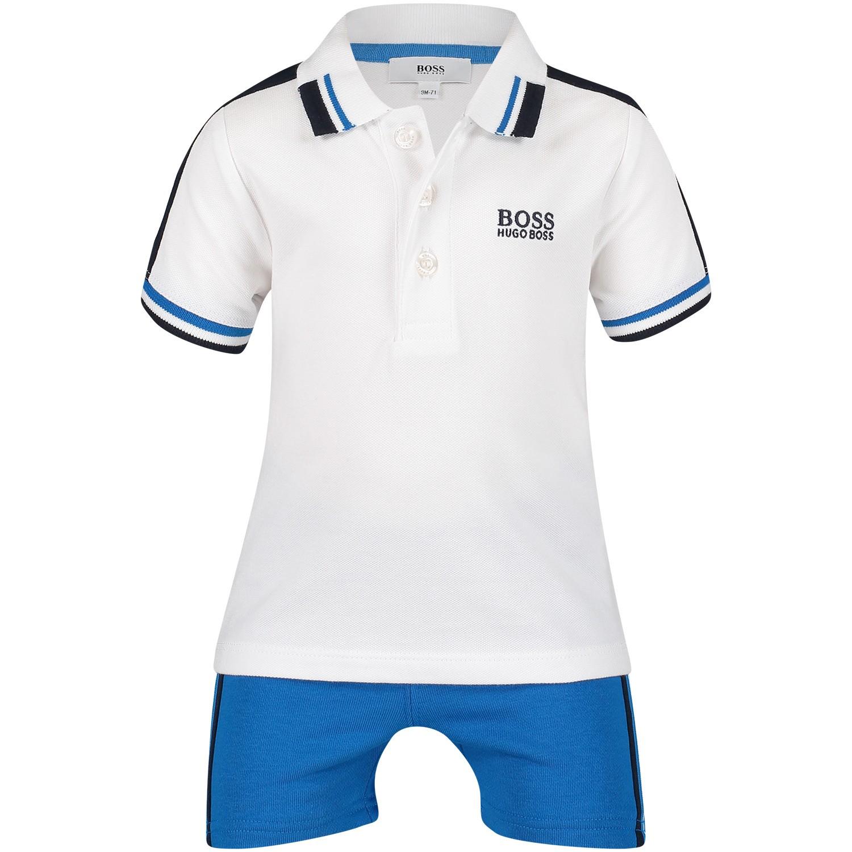 Afbeelding van Boss J08033 babysetje cobalt blauw
