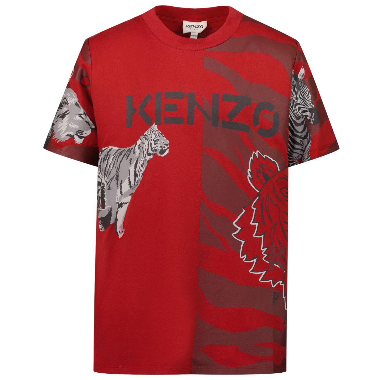 Afbeelding van Kenzo K25190 kinder t-shirt donker rood