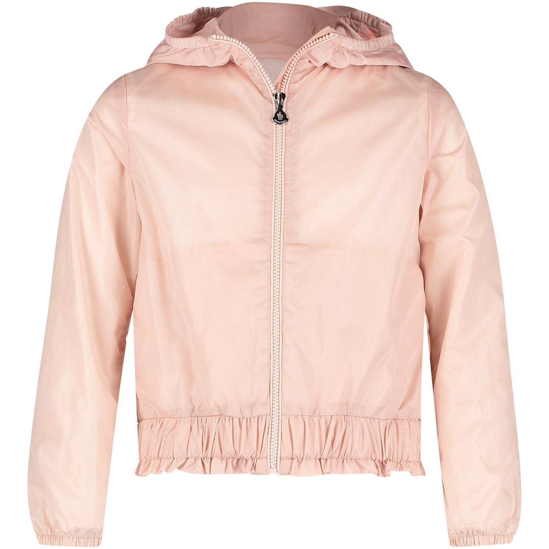 Afbeelding van Moncler 4611205 kinderjas licht roze