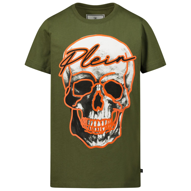 Afbeelding van Philipp Plein A20C BTK1047 kinder t-shirt army