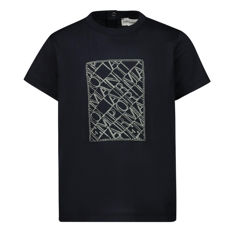 Afbeelding van Armani 3KHTM1 baby t-shirt navy