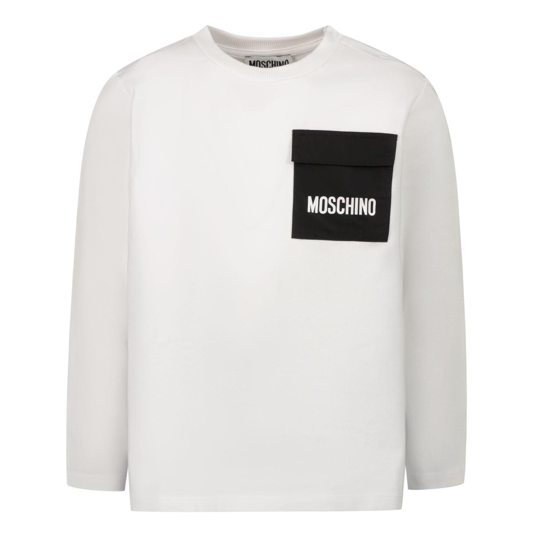 Afbeelding van Moschino MUO006 baby t-shirt wit