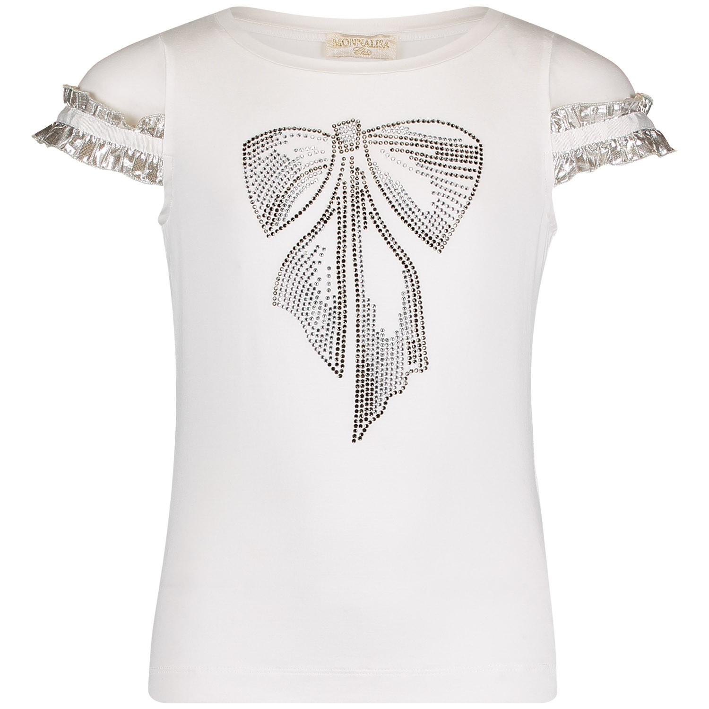 Afbeelding van MonnaLisa 713604 kinder t-shirt off white