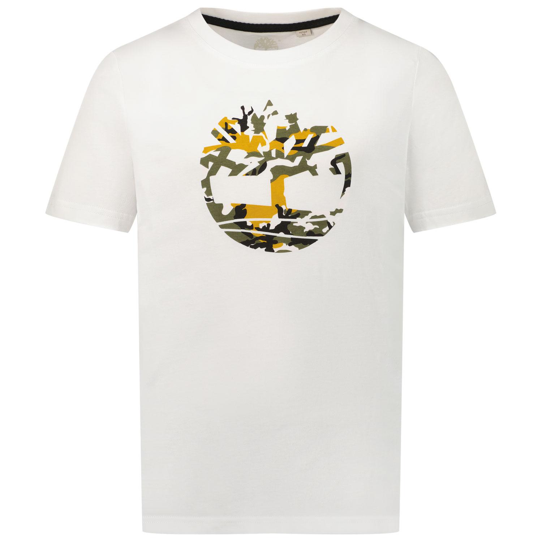 Afbeelding van Timberland T25S34 kinder t-shirt wit