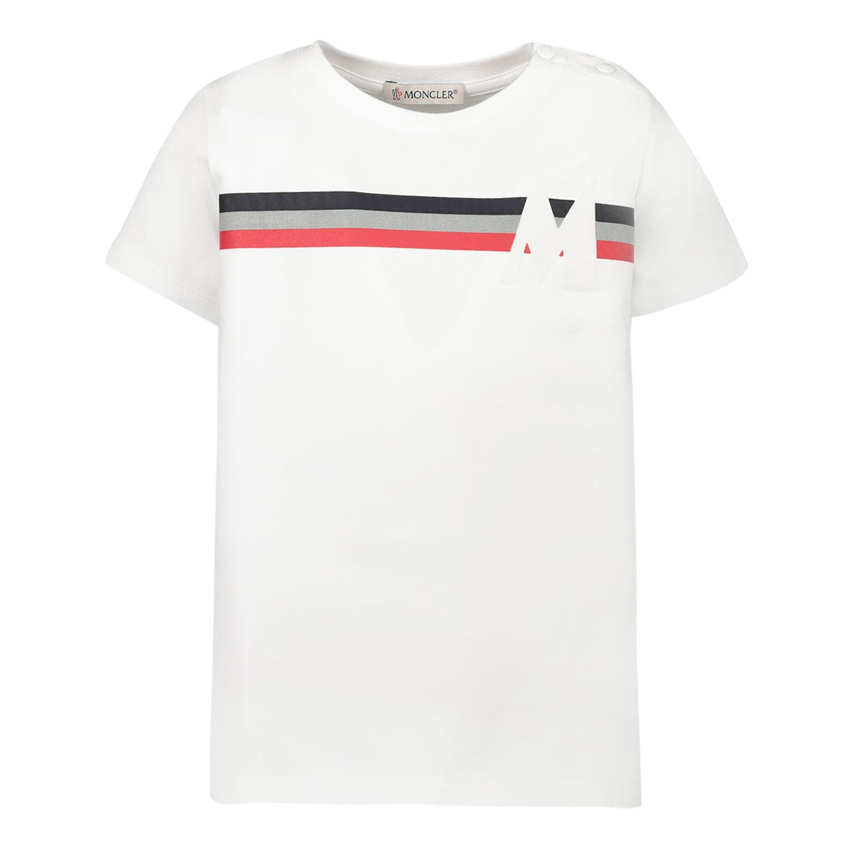 Afbeelding van Moncler 8C71520 baby t-shirt wit