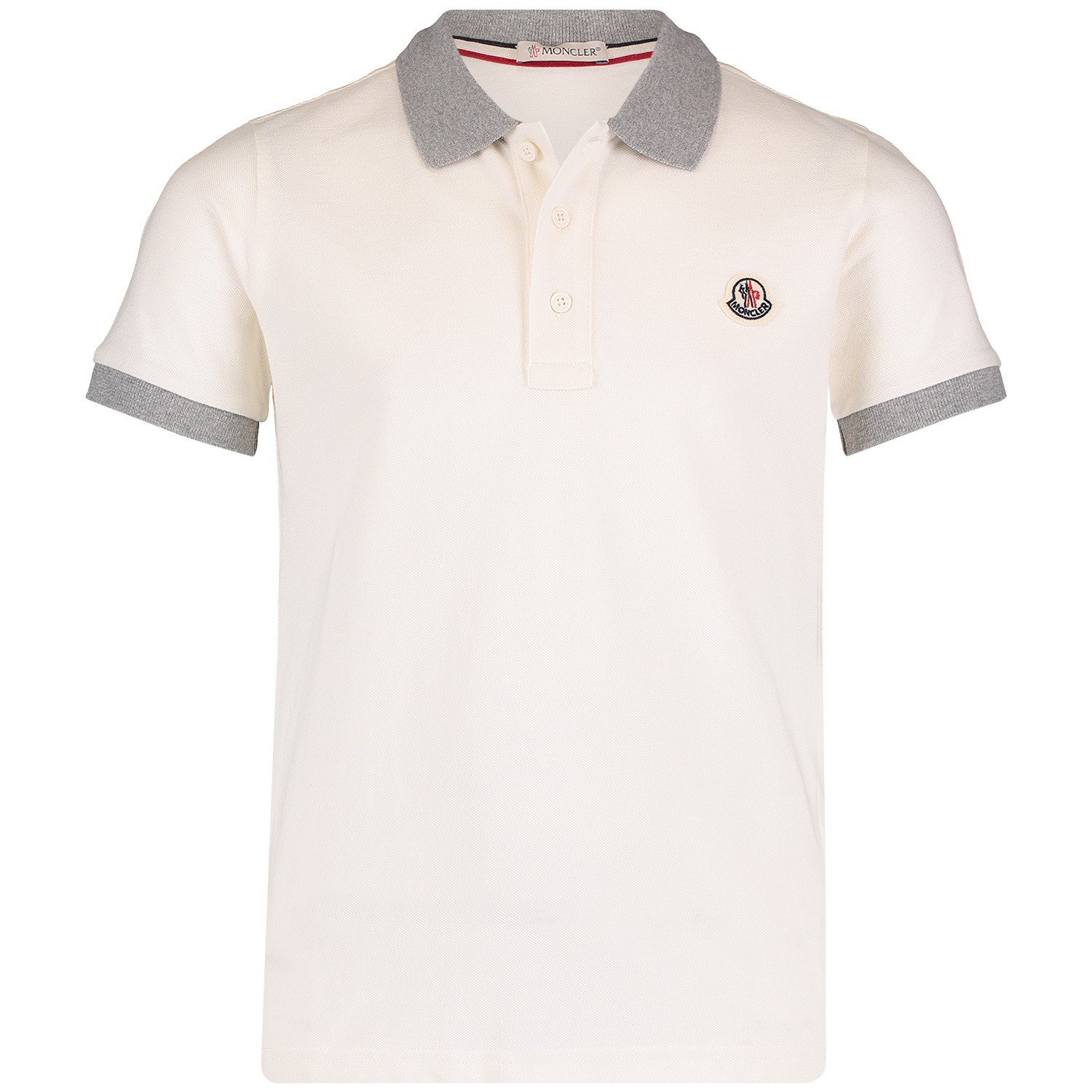 Picture of Moncler 8307850 kids polo shirt off white