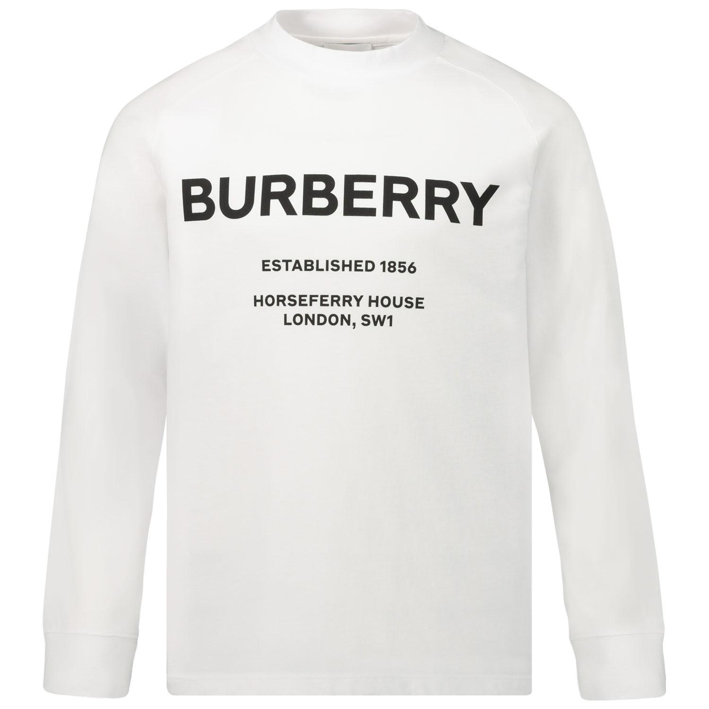 Afbeelding van Burberry 8012761 kinder t-shirt wit