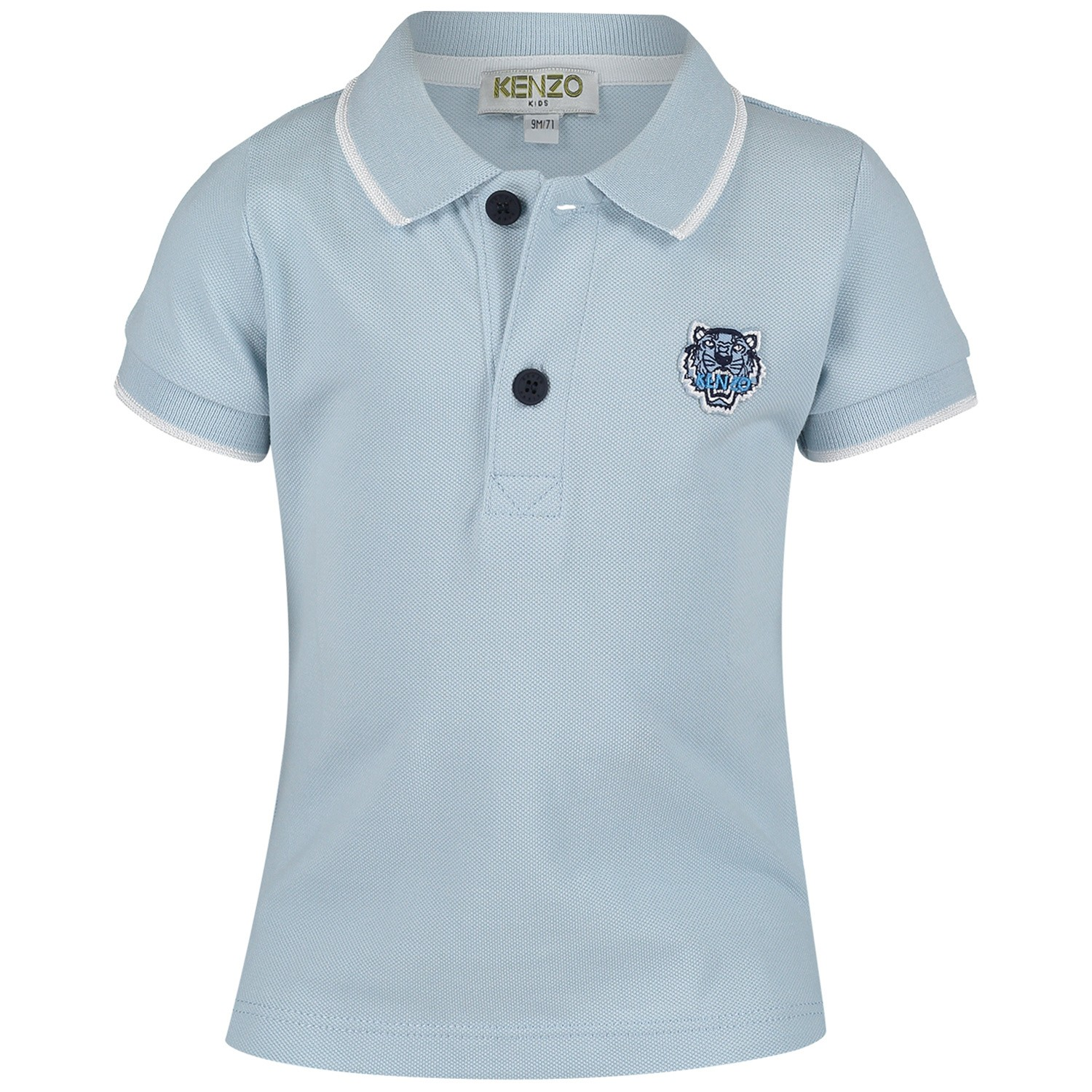 Picture of Kenzo KN11517 baby poloshirt light blue