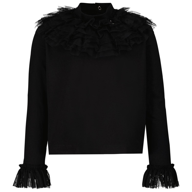 Afbeelding van MonnaLisa 178604 kinder t-shirt zwart