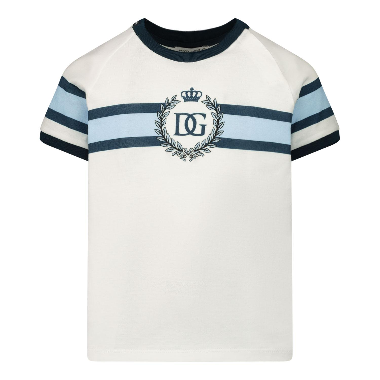 Afbeelding van Dolce & Gabbana L1JT8X G7WRV baby t-shirt wit