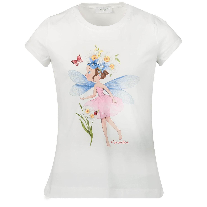 Afbeelding van MonnaLisa 115604SB kinder t-shirt off white