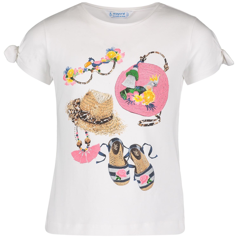 Afbeelding van Mayoral 3009 kinder t-shirt wit