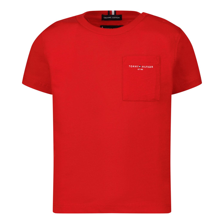 Afbeelding van Tommy Hilfiger KB0KB06556B baby t-shirt rood