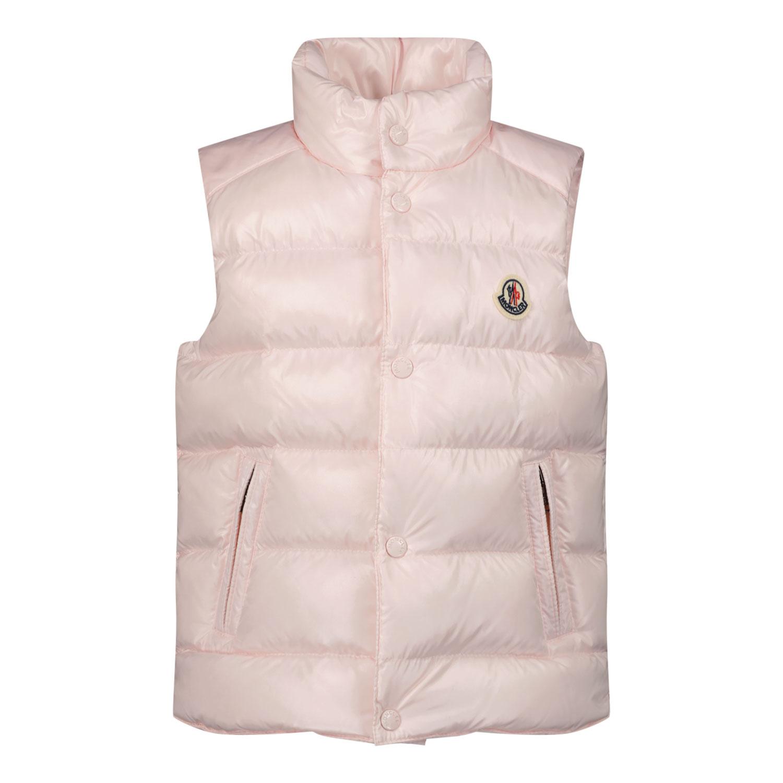 Afbeelding van Moncler 1A52700 baby bodywarmer licht roze