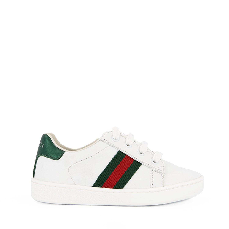 Afbeelding van Gucci 433146 kindersneakers wit