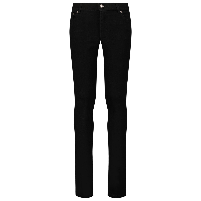 Afbeelding van Dolce & Gabbana L42F40 LD862 kinder jeans zwart