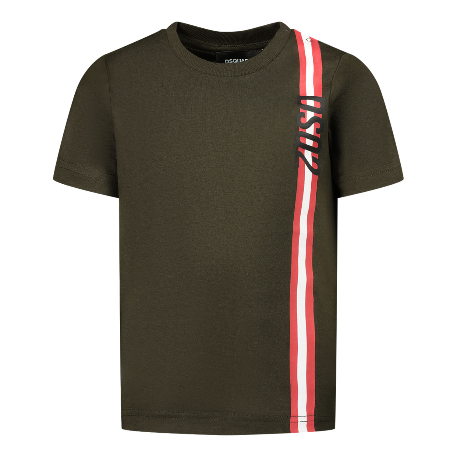 Afbeelding van Dsquared2 DQ0174 baby t-shirt army