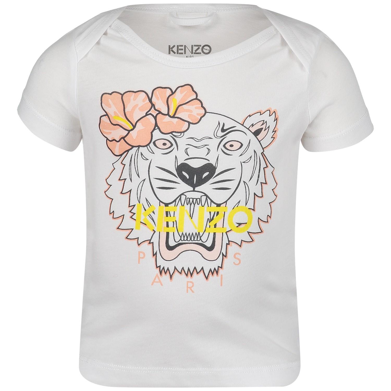 Afbeelding van Kenzo KN10023 baby t-shirt wit