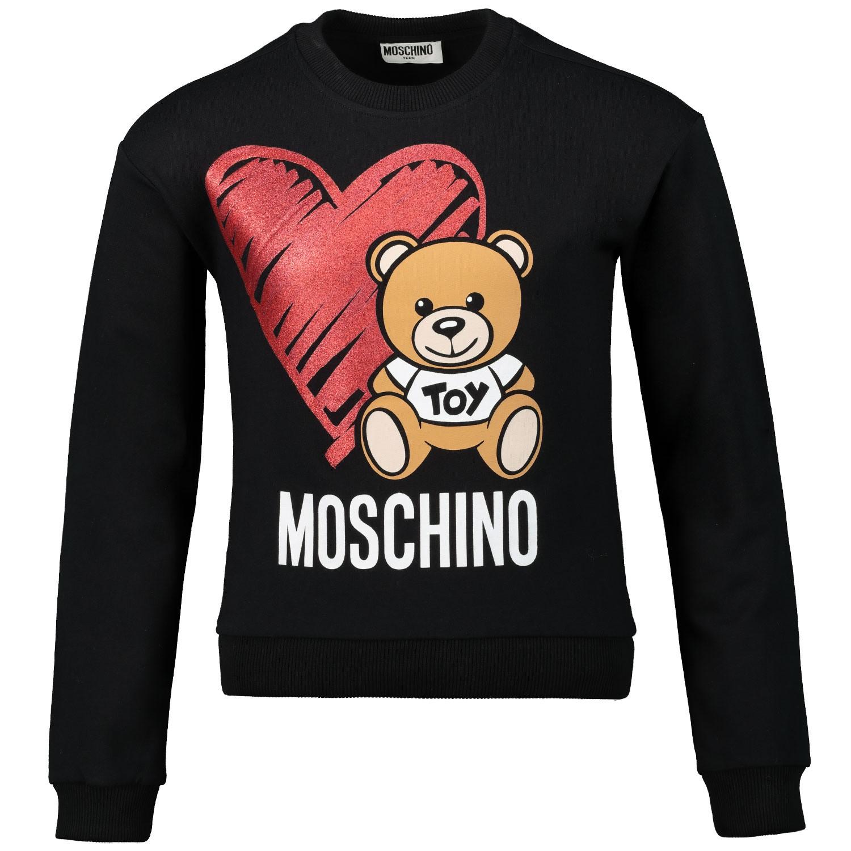Afbeelding van Moschino HDF026 kindertrui zwart