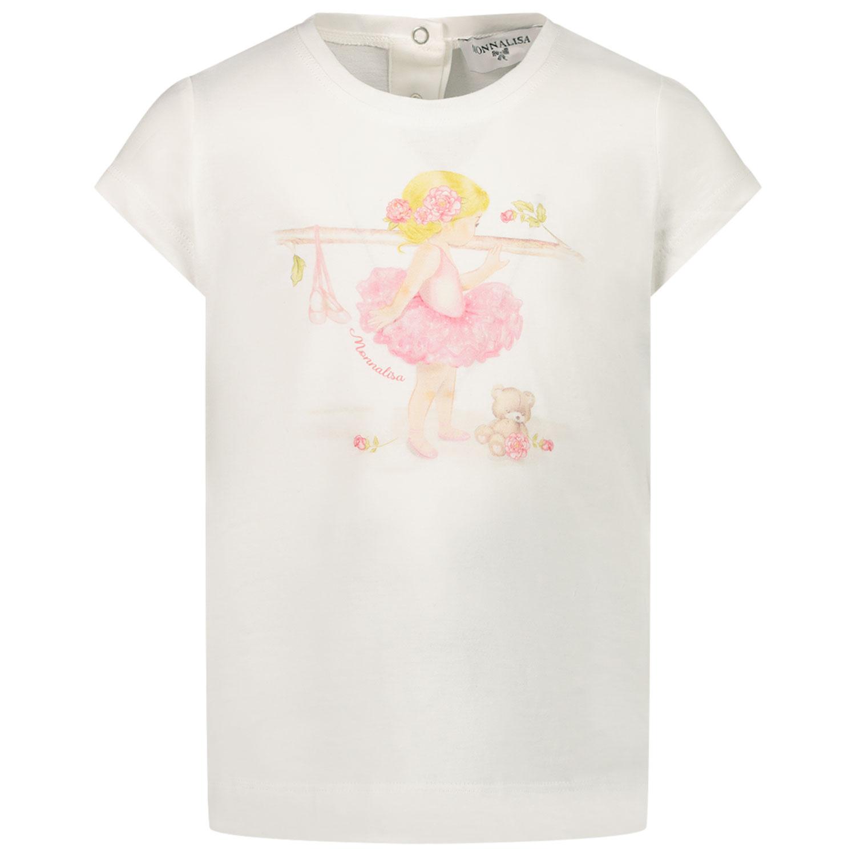 Afbeelding van MonnaLisa 497602SB baby t-shirt off white