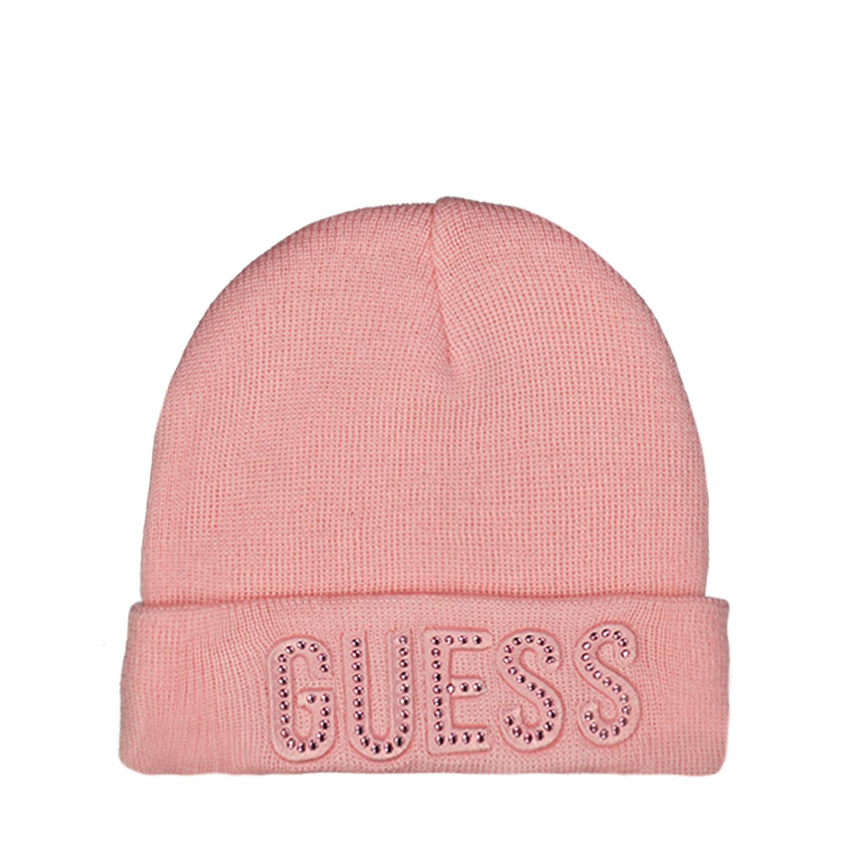 Afbeelding van Guess A0BZ01 babymutsje licht roze