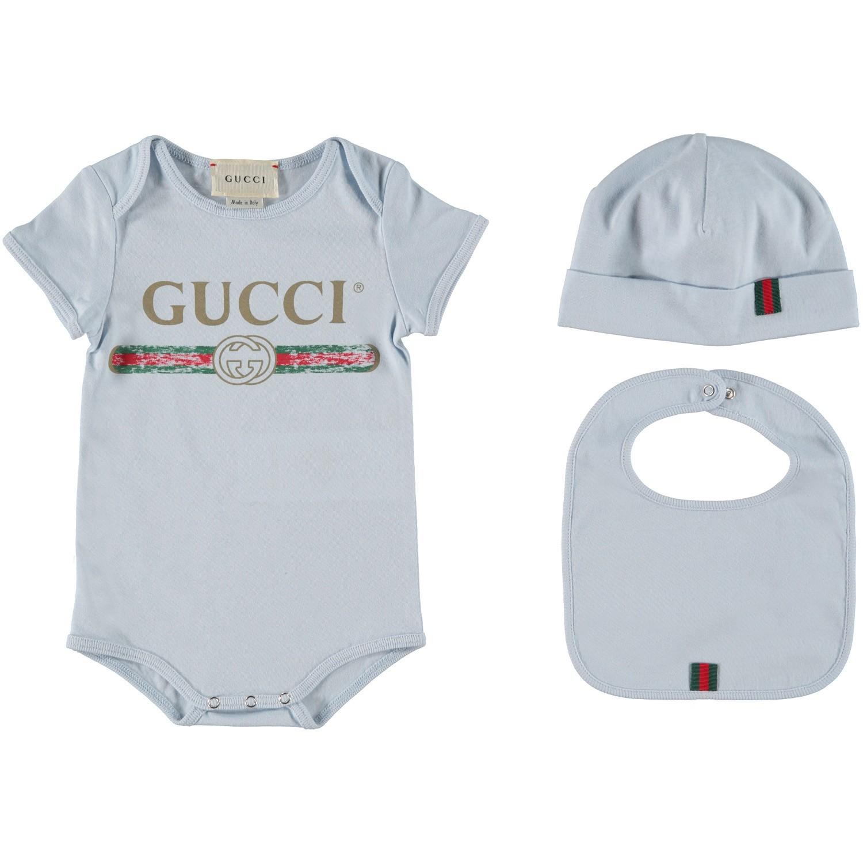 Afbeelding van Gucci 516326 rompertje licht blauw