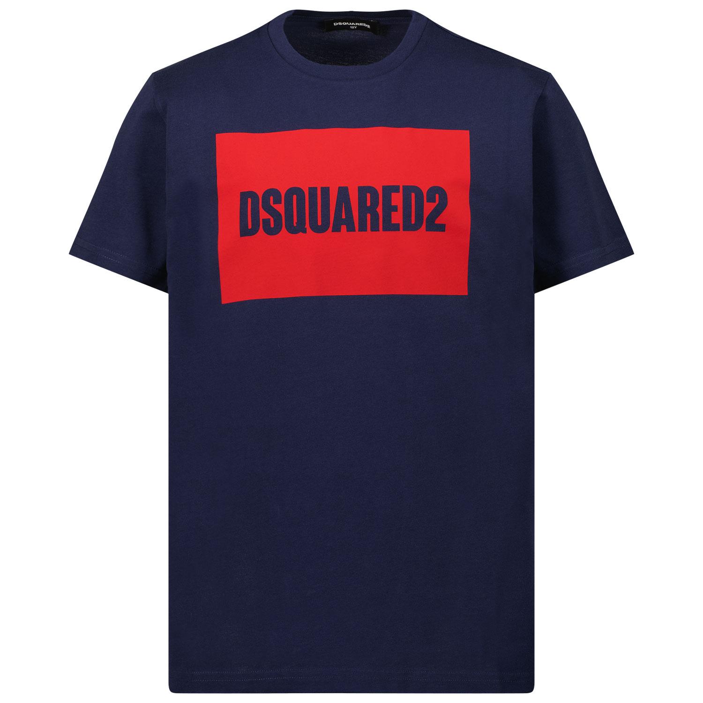 Afbeelding van Dsquared2 DQ0522 kinder t-shirt navy