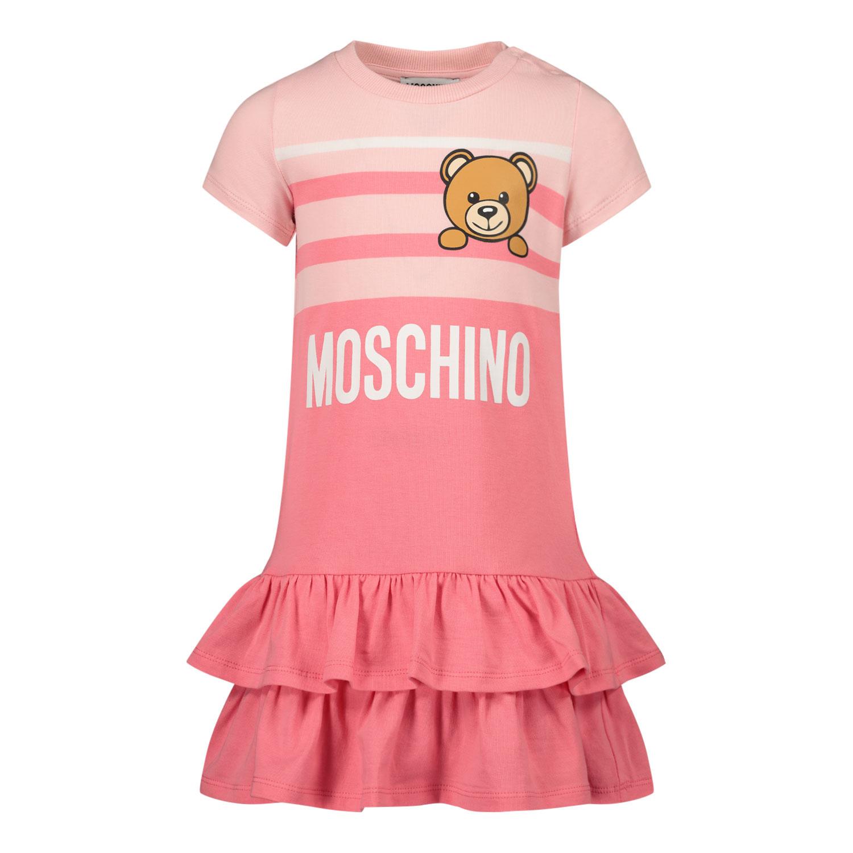 Afbeelding van Moschino MBV06Y babyjurkje roze