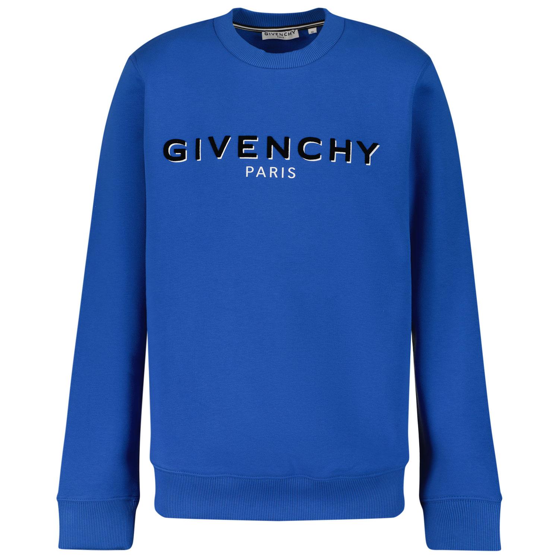 Afbeelding van Givenchy H25273 kindertrui cobalt blauw