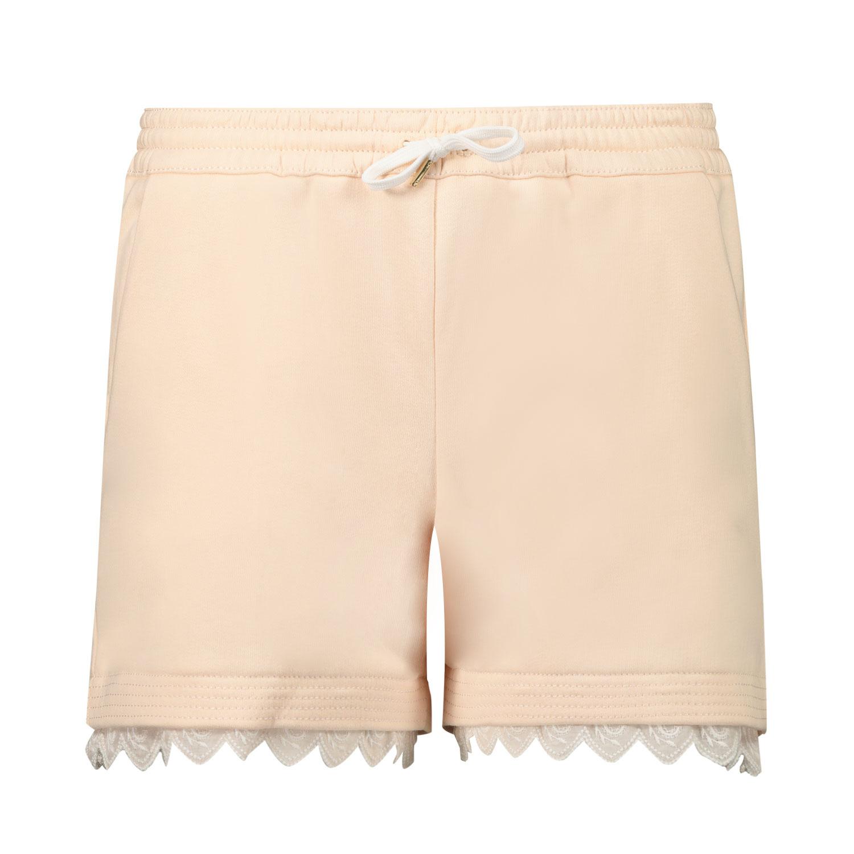 Afbeelding van Chloé C14659 kinder shorts zalm