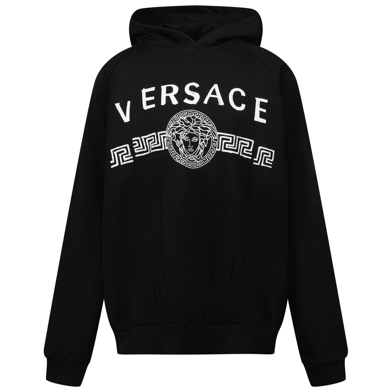 Afbeelding van Versace 1000570 1A00490 kindertrui zwart/wit
