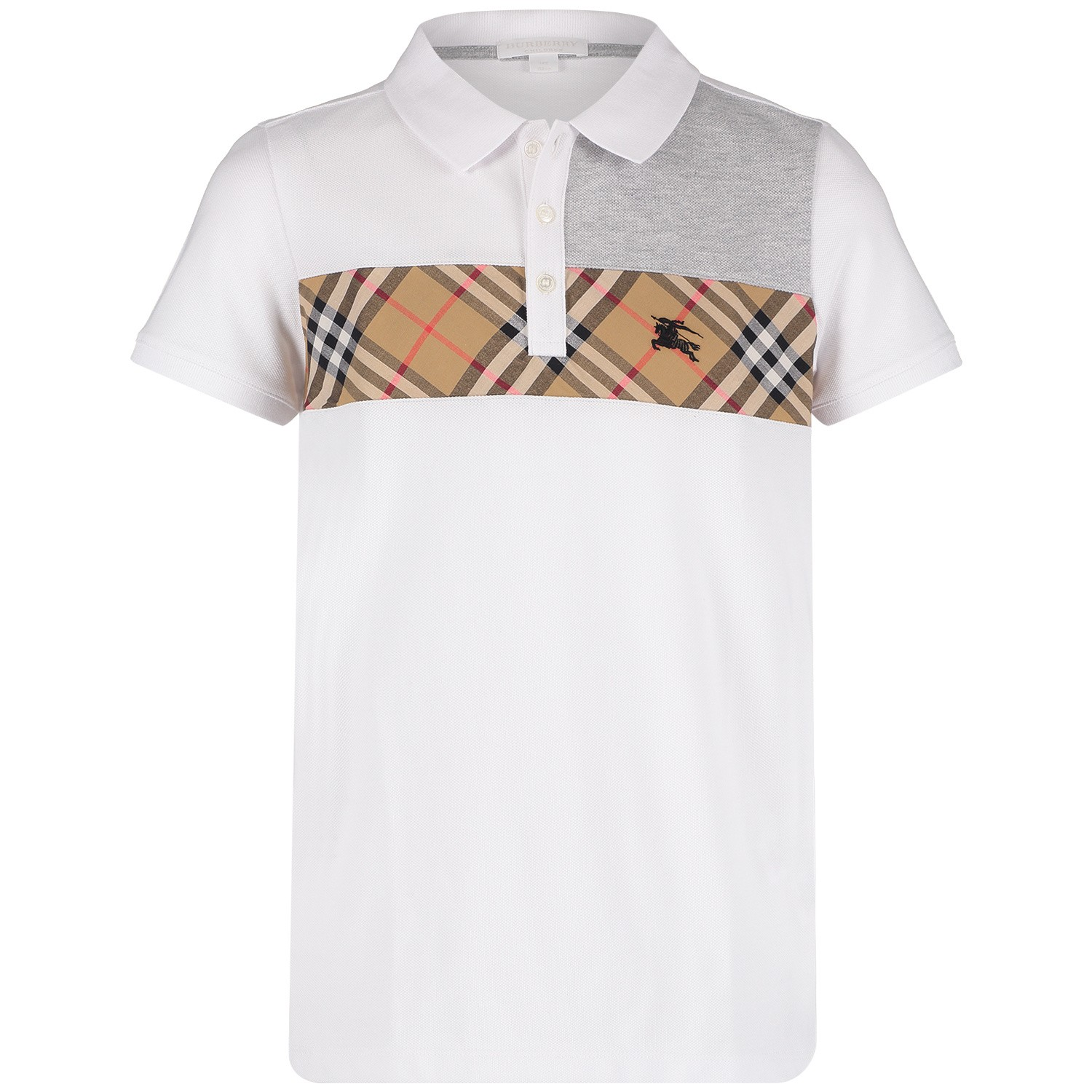 Picture of Burberry 8001081 kids polo shirt white 7487a1ea9