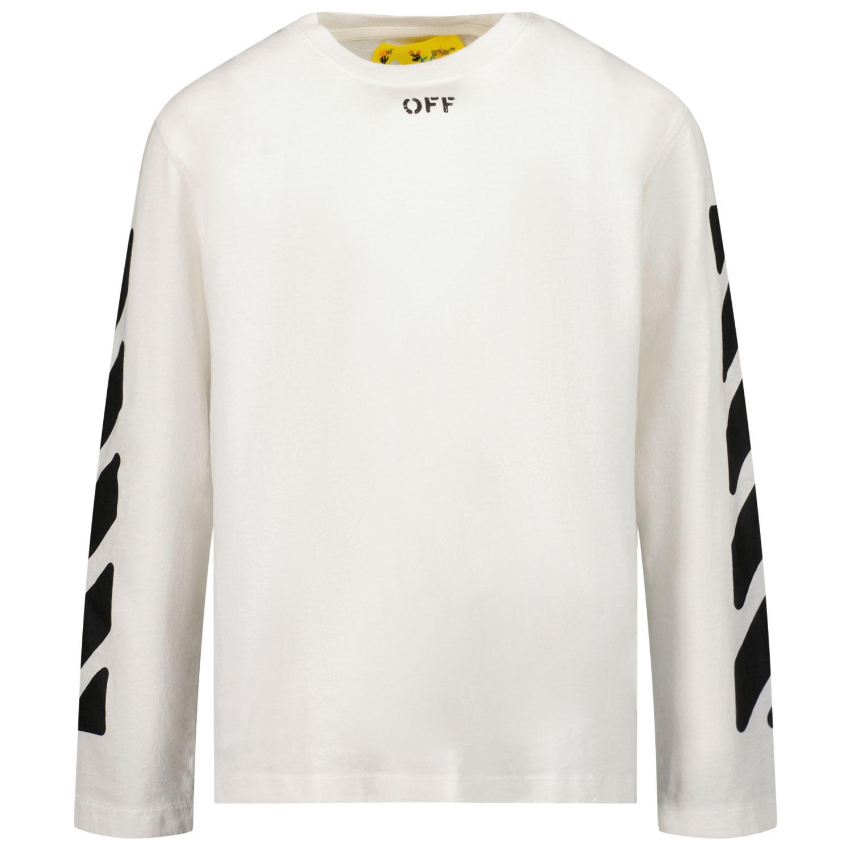 Afbeelding van Off-White JER0010110 kinder t-shirt wit