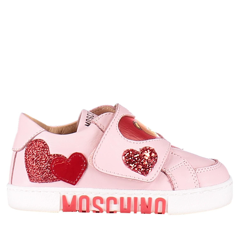 Afbeelding van Moschino 26219 kindersneakers licht roze