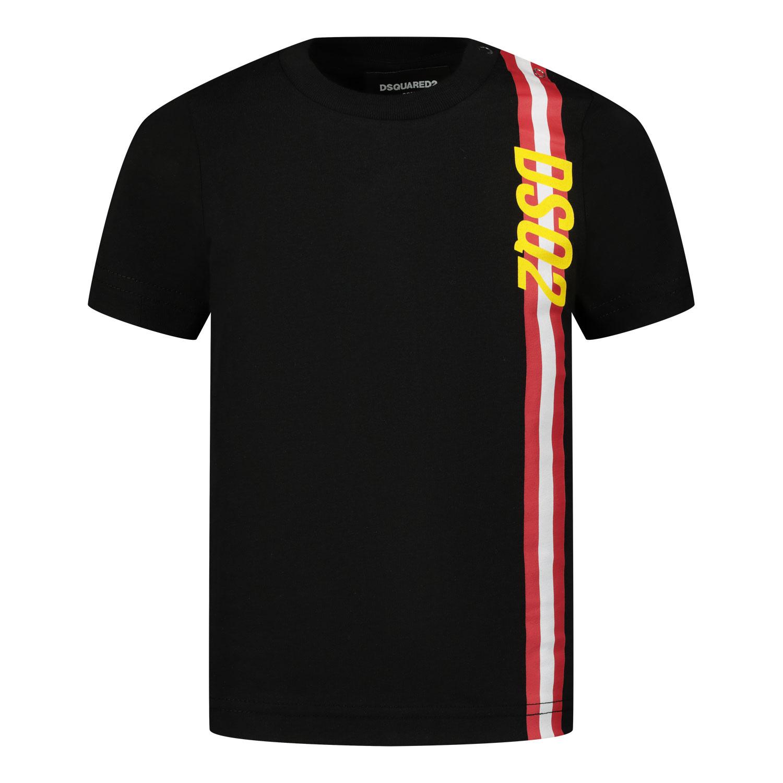 Afbeelding van Dsquared2 DQ0174 baby t-shirt zwart