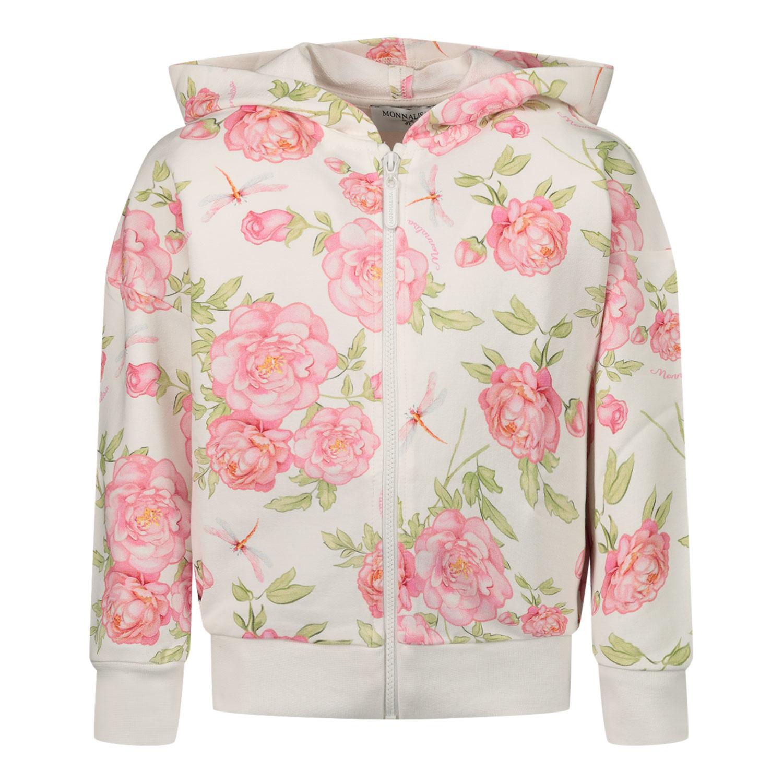 Afbeelding van MonnaLisa 397800 baby vest off white/roze