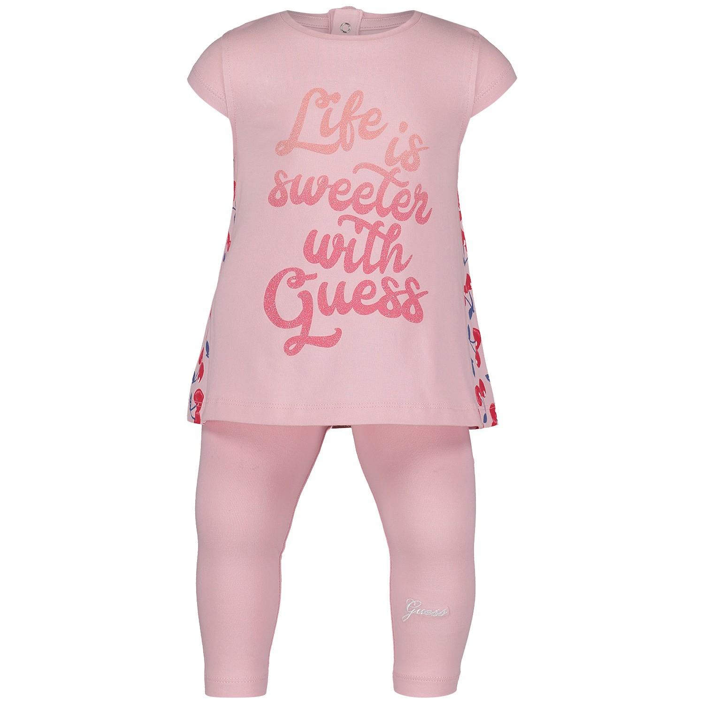 Afbeelding van Guess A92G02 babysetje licht roze