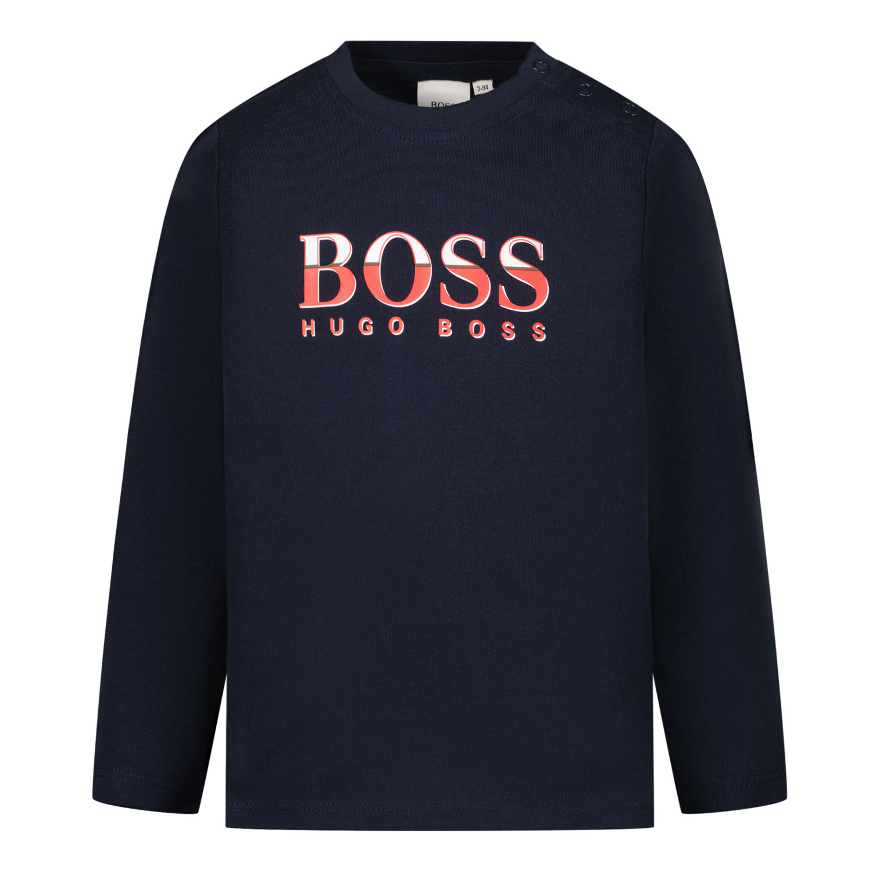 Afbeelding van Boss J05871 baby t-shirt navy