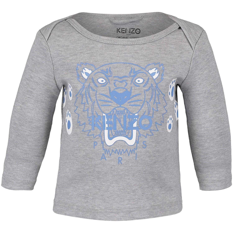 Afbeelding van Kenzo KM10513 baby t-shirt licht grijs
