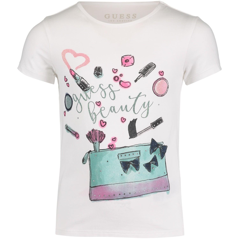 Afbeelding van Guess K83I20 kinder t-shirt off white