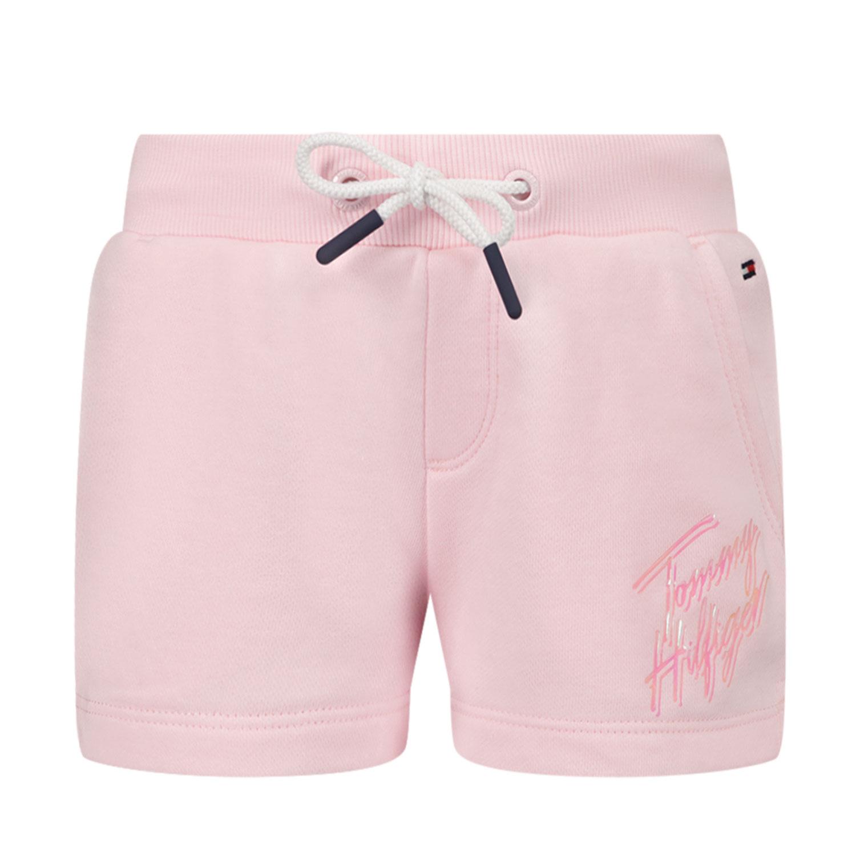 Afbeelding van Tommy Hilfiger KG0KG05899 B baby shorts licht roze