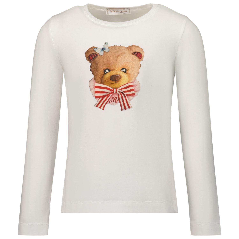 Afbeelding van MonnaLisa 118636SJ kinder t-shirt off white