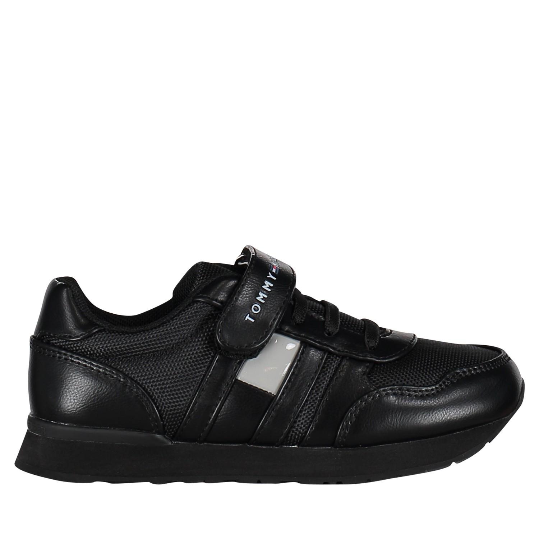Afbeelding van Tommy Hilfiger T3B430153 kindersneakers zwart