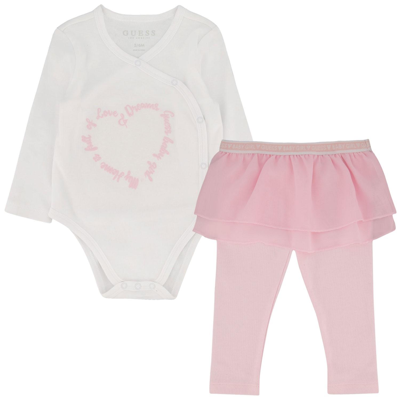 Afbeelding van Guess S01G05 babysetje wit/roze