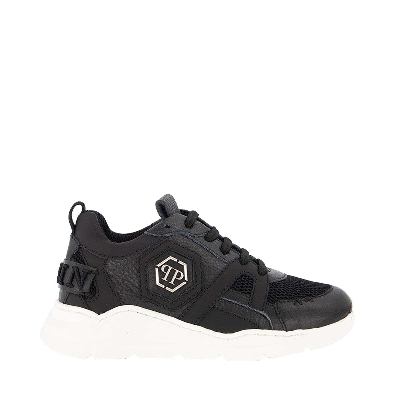 Afbeelding van Philipp Plein BSC0245 kindersneakers zwart